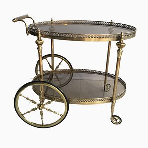 Vintage Brass Drinks Trolley, 1960s
