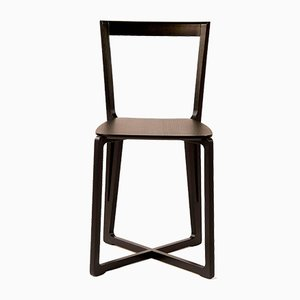 H.E.A.D. Chair in Black Stained Ash by Adentro Studio & Federico Pozzi, 2016