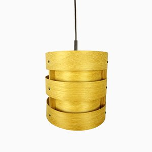 German Wooden Pendant Light from Zicoli, 1970s