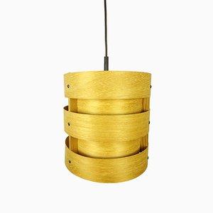 Lámpara colgante alemana de madera de Zicoli, años 70