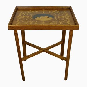 German Inlaid Side Table, 1910s