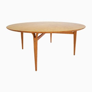 Birch & Burlwood Visitor Table by Bruno Mathsson for Firma Karl Mathsson, 1970s