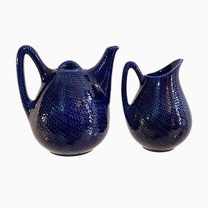 Théière & Pot à Lait par Hertha Bengtsson pour Rörstrand, 1950s