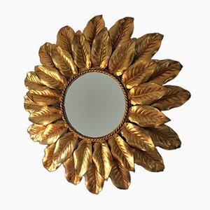 Specchio a forma di sole dorato retroilluminato, Francia, anni '50