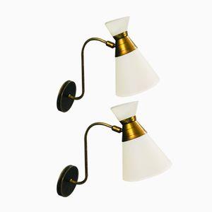 Mid-Century Diabolo Wall Lamps, Set of 2