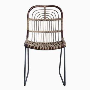 Kawa Stuhl aus Korbgeflecht & Metall von House Doctor