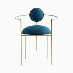 Sedia Lunar in acciaio e lana di Bohinc Studio