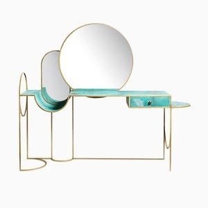 Consola Celeste de acero y cobre de Bohinc Studio
