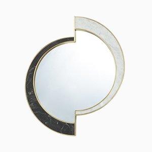 Half Moon Spiegel aus Marmor mit Messing von Bohinc Studio