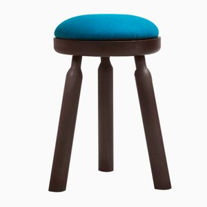 Ninna Stool in Wenge Stained Ash with Wool Seat by Carlo Contin for Adentro