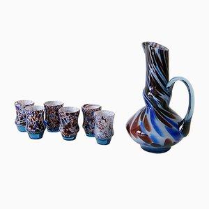 Karaffe und Gläser Set aus Muranoglas