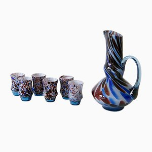 Murano Glass Carafe and Glasses Set