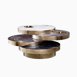 Solaris kinetisch Tisch aus Marmor & Messing von Bohinc Studio
