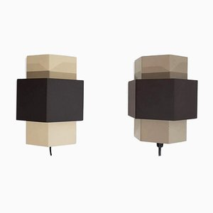 Geometric Wall Sconces from Anvia, 1960s, Set of 2