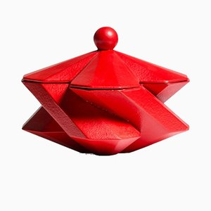 Fortress Treasury Box Red Ceramic by Bohinc Studio