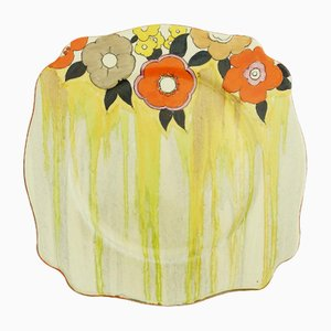 Art Deco Lydiat Plate by Clarice Cliff for Newport Pottery, 1930s
