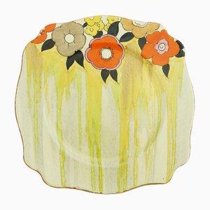 Assiette Lydiat Art Déco par Clarice Cliff pour Newport Pottery, 1930s
