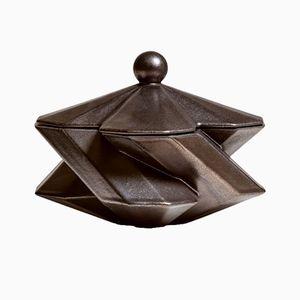 Fortress Treasury Box in Bronze Ceramic by Bohinc Studio