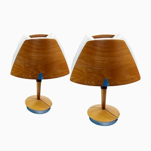 Large French Culot Table Lamp from Lucid Lampes, 1970s, Set of 2