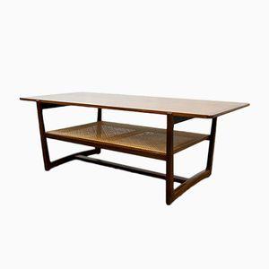 Mid-Century Teak & Cane Coffee Table