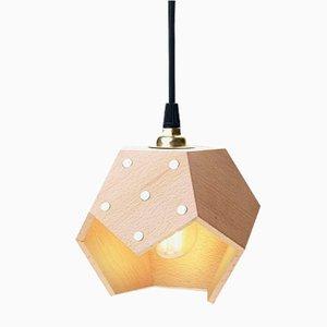 Lampada a sospensione TWELVE Solo in legno di Plato Design