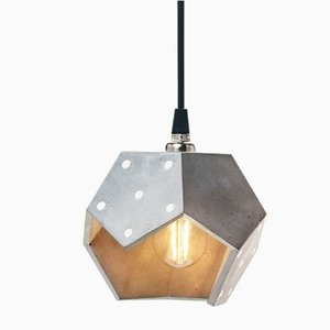 Basic TWELVE Solo Silver Concrete Pendant Lamp from Plato Design