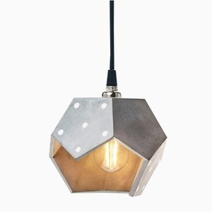 Basic TWELVE Trio Silver Concrete Pendant Lamp from Plato Design