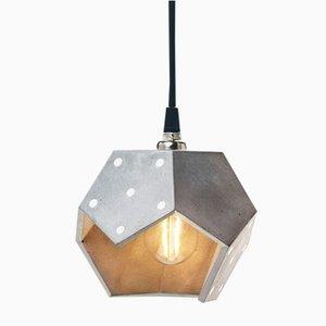 Lámpara colgante Basic TWELVE trio de hormigón plateado de Plato Design