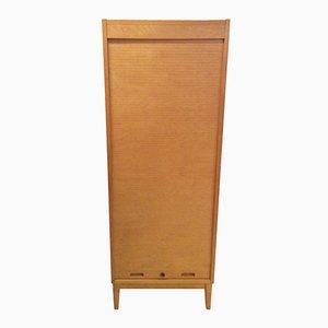 Mid-Century Oak Tambour Cabinet from Edsby Verken, 1960s
