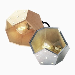 Lampe à Suspension Basic TWELVE Duo en Bois et Béton de Plato Design