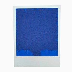 Litografia vintage blu di Bernd Berner, 1972
