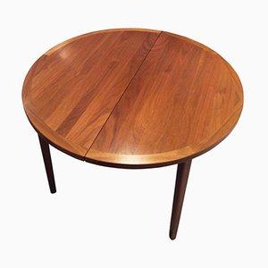 Tavolo da pranzo Mid-Century allungabile in teak, anni '60