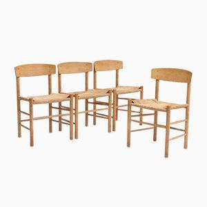 J39 People's Chair von Børge Mogensen für FDB, 4er Set