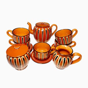 Traditional Bulgarian Ceramic Tea & Coffee Set, 1970s