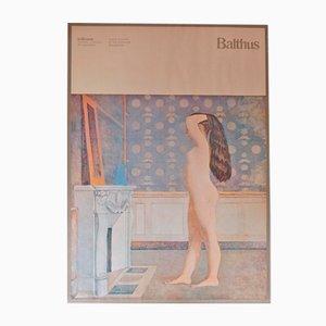 Vintage Italian Balthus Exhibition Poster, 1980s