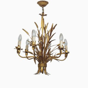 Vintage Gilded Chandelier by Hans Kögl, 1960s