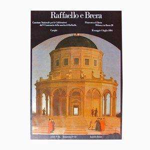 Vintage Ausstellungsplakat für Raffaello e Brera, 1984