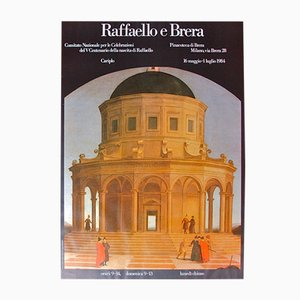 Vintage Exhibition Poster for Raffaello e Brera, 1984