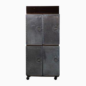 Carrello Swiss Balair vintage industriale in alluminio