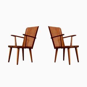 Sedie in legno di pino di Göran Malmvall per Karl Andersson & Söner, Svezia, anni '50, set di 2