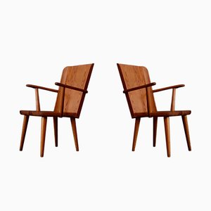 Swedish Pine Chairs by Göran Malmvall for Karl Andersson & Söner, 1950s, Set of 2