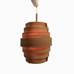 Lampada a sospensione in legno di pino di Hans-Agne Jakobsson per AB Ellysett, anni '60