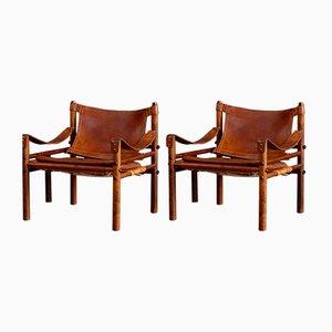 Sirocco Safari-Stühle von Arne Norell für Arne Norell AB, 1960er, 2er Set