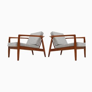 Swedish Armchairs by Folke Ohlsson for Bodafors, 1960s, Set of 2