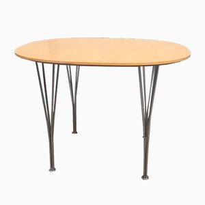 Table de Salle à Manger Vintage en Chêne par Piet Hein & Bruno Mathsson pour Fritz Hansen