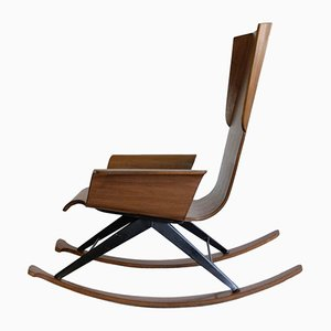 Mid-Century Plywood Rocking Chair, 1960s