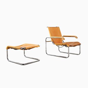 Lounge Chair and Ottoman Set by Marcel Breuer for Thonet, 1970s