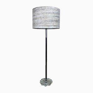 Deutsche Stehlampe aus Chrom & Kunststoff von Temde, 1960er