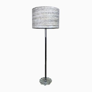 German Chrome and Plastic Floor Lamp from Temde, 1960s