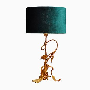 Vergoldete Jugendstil Ast Tischlampe